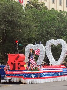 "And, a ""LOVE"" float"
