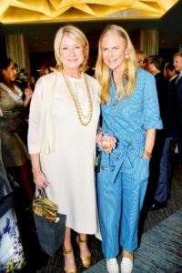 Here I am with Gigi Mortimer, director of design and inspiration for Tory Burch. (Photo by Patrick McMullan/PMC)