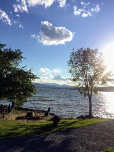 Senior marketing manager, Kristina DeGeorge, shares this view of Lake Champlain and the Adirondack Mountains from the resort where she stayed.