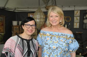Here I am with East Hampton Historical Society executive director, Jill Malusky. (Photo taken by Richard Lewin)