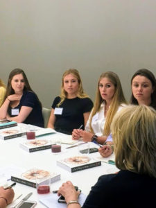 "These interns all asked very good questions, and were very eager to hear all my answers. Each intern also received a signed copy of my book, ""A New Way to Bake: Classic Recipes Updated with Better-For-You Ingredients from the Modern Pantry"". https://www.amazon.com/New-Way-Bake-Better-You/dp/0307954714"
