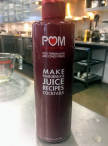 The pomegranate concentrate comes from our friends at Pom Wonderful. http://www.pomwonderful.com/