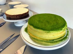 Lady M is known for creating some of the freshest handmade cakes. We enjoyed two of them - a green tea mille crepé cake, and a gateau nuage cake.