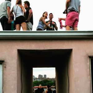Zaki spent his Fourth on a rooftop with friends in the East Village of New York City.