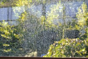 If you look closely, the windows are covered with calcium deposits, which means it is time for a good cleaning.