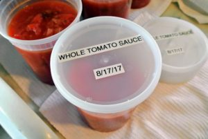 I made labels for all the lids with the type of sauce and the date it was made.