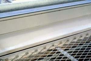 Look how clean this sill is after a bit of elbow grease.