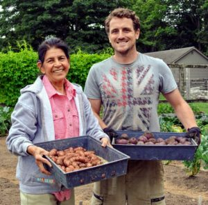 Ryan and Laura are very pleased with this season's potato harvest – there were lots and lots of delicious potatoes to pick.
