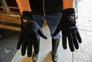 Sarah and I also got new riding gloves, with the ceramic-infused Welltex fabric. Thermal heat is a well-recognized method used for improving blood flow. I can't wait to try them.