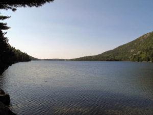 Jordan Pond serves as a wildlife habitat and provides water for nearby communities as well as Jordan Pond House. At its deepest point, it is 150-feet. The water is spectacularly clear.