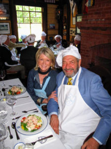"My friend, television producer, Dick Wolf, was my ""caterer"". He had the responsibility of sitting next to me during the luncheon and then interviewing me in front of the audience. I spoke about my love for Maine and Skylands."