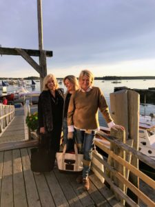 Here I am with my friends, Memrie Lewis and Jean Lipkin at Islesford Dock.