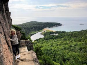 On my birthday, we took a hike to the top of Beehive, a rather vertical hike and climb on a beehive shaped mountain overlooking Sand Beach in Acadia. I am always so energized when I am in Maine.