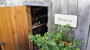 Here is the entrance to the wine shop, which is called the Museum. Visitors purchase their wine, and then it is sent up to the dining room to be enjoyed with dinner.