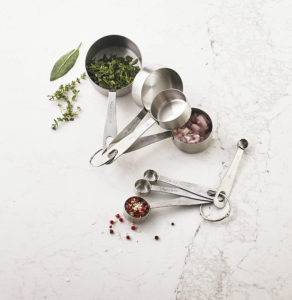 My Martha Stewart Collection stainless steel measuring cups and measuring spoons are must-haves for any kitchen.