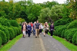 Throughout the walking tour, Ryan answered questions and explained the care and maintenance of all the gardens.