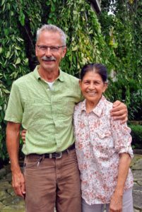 Bob and my longtime housekeeper, Laura Acuna, posed for this quick photo - a keepsake for Andrew.