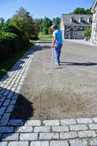 It looks so much better once it is done. Weeding and edging the carriage roads gives them a beautiful finishing touch.