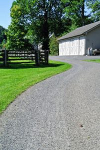 This road is nearing my stable barn, which is on the right. It looks so nice to have well-groomed roads.