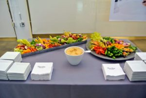 There were lots of wonderful bites for guests to enjoy including this fresh crudites station.