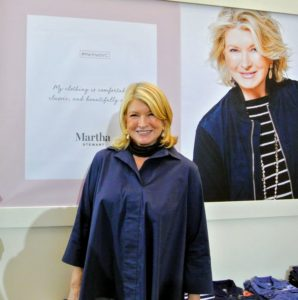 Our office clerestory was a wonderful venue for the media launch party and QVC Facebook LIVE. Here I am standing in our fashion corner wearing one of the shirts from my collection. Look for lots more photos from the party in tomorrow's blog.