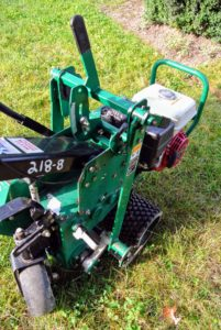 This sod cutter weighs about 380-pounds. It cuts 12-inch widths of sod and can cut more than 100-feet per minute.