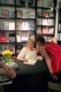Here I am at another book signing event - the crowds are always so energetic and personable.