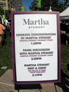 I participated in several great events including a cooking demo, a panel discussion and a wine tasting.