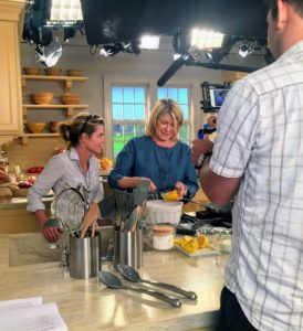 My special projects producer, Judy Morris, joined me as I prepared several back-to-school breakfast ideas that are perfect for every busy family. On the counter, you can see my redesigned kitchen tools now with a more contemporary style that makes them more flexible and easier to use.