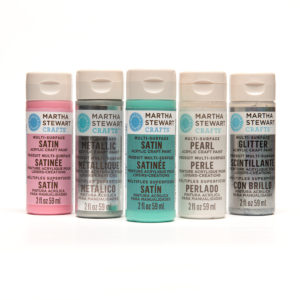 "We're also giving ""Meet Martha"" attendees several craft supplies, including a kitchen craft pack that includes several Martha Stewart Crafts Paints like these."