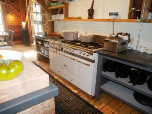 This is the other side of the small open kitchen where Erin is often seen cooking the meals.