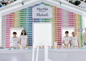 Inside the Martha Stewart Experience Pavilion, guests could join in on craft projects at the Michael's paint house. http://www.michaels.com/crafts-and-hobbies/martha-stewart-crafts/938473843