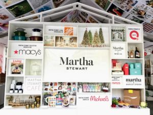 The first thing visitors saw when they entered our Martha Stewart Experience Pavilion was the Wall of Martha featuring all of our partnering brands, including Macy's, The Home Depot, QVC, Martha Stewart Wine Co., Martha & Marley Spoon, and more.