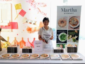 "On another side of the Pavilion, we set-up a table where guests could purchase copies of my newest book, ""Martha Stewart's Slow Cooker"" - it's never too early to start thinking of your holiday gift giving list."