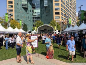 The event took place at the well-known Campus Martius, a one-acre re-established urban park in downtown Detroit.