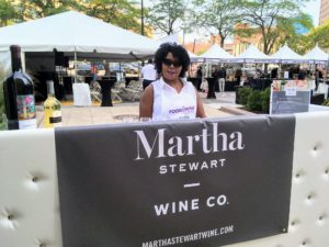 Here is a volunteer working at our Martha Stewart Wine Co. station. https://marthastewartwine.com