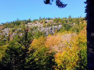 This photo was taken from the Spring Mountain Trail up Penobscot Mountain. Penobscot Mountain is the 5th highest peak in Acadia.