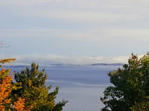 Here is another view with the fog rolling in over the water.
