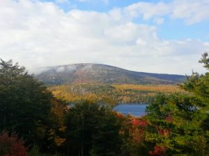 And a look at Eagle Lake from Cadillac Mountain with the drifting fog. I hope these photos inspire you to visit Acadia National Park in Maine - it is truly magical. Happy fall.