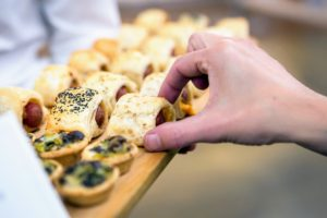 """And remember all those """"pigs in a blanket"""" hors d'oeuvres we served at the launch of my QVC Colletions party last month? I'll be featuring these on Sunday, October 22nd on QVC as part of my Gourmet Holiday Show. (Photo by Sam Deitch for BFA.com)"""
