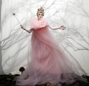 """This is my """"Fairy God Martha"""" costume. I wore a pink bodysuit and leggings underneath all this tulle fabric. (Photo by Fadil Berisha)"""
