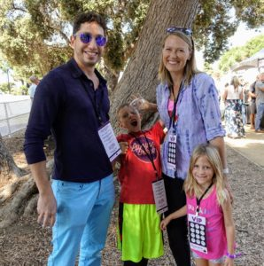 Zac brought his lovely family to the festival - everyone had a terrific time.