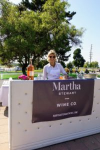 Here is the Martha Stewart Wine Co. booth, where volunteers poured glasses of 2016 Racine Côtes De Provence, Rosé, and L'Arche Perlee Cremant De Bordeaux for guests to sample and enjoy.