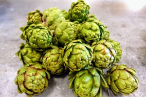 These artichokes are also from my garden here in Maine - I love when we can use home grown produce.
