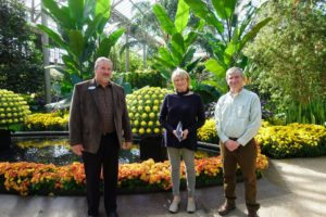 And here I am with James Sutton, Senior Horticultural Display Designer, and James Harbage, PhD, Director, Floriculture and Conservatories. They both gave us a very pleasant and informative tour of Longwood Gardens. I encourage you to visit this magical space the next time you're in the area.