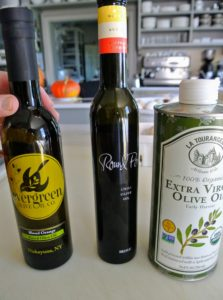 These are the olive oils I used - you don't need a lot, so feel free to use up any leftover bottles.