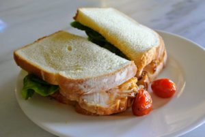 For a quick lunch, I added some roasted tomatoes in turkey sandwiches. The turkey is my boneless turkey breast that I sold on QVC this week. Did you order your special turkey and sides? goo.gl/ZUQknS