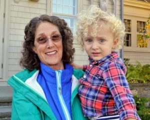 Here is Silas, the son of my niece, Sophie, and his grandmother, Nancy.