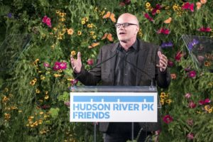Board Chair of Hudson River Park Friends, Michael Novogratz, spoke about how the park has become an indelible part of New York City. (Photo by 8SP_Simon Luethi)