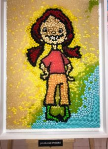 This is Julianne Moore's candy mosaic.